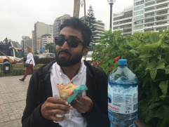 Vivek Eating Crepes