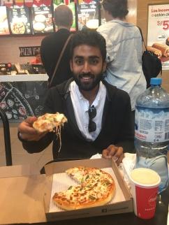 Vivek Eating Pizza Hut